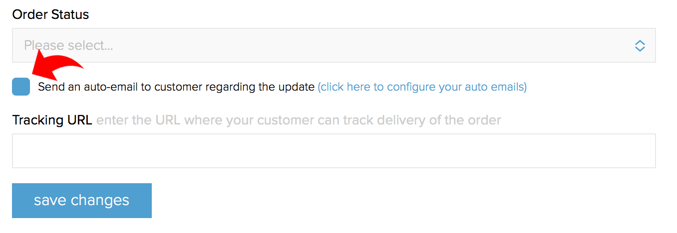Managing your order status automatic emails