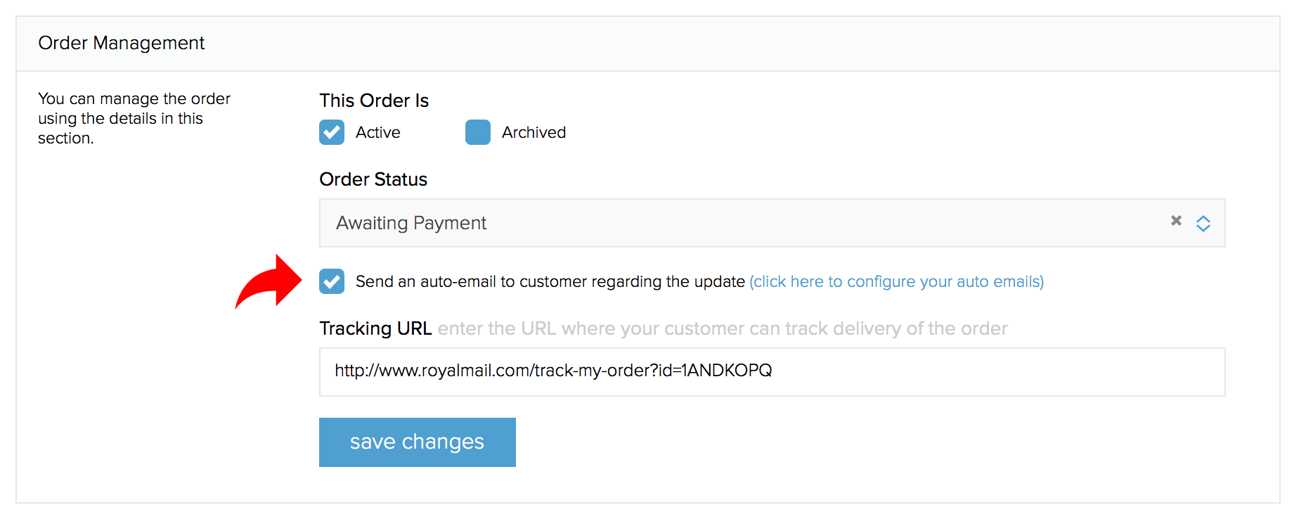 How does the tracking url variable work?